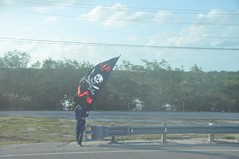Pirate on the road, Marathon/Florida Keys - Miami