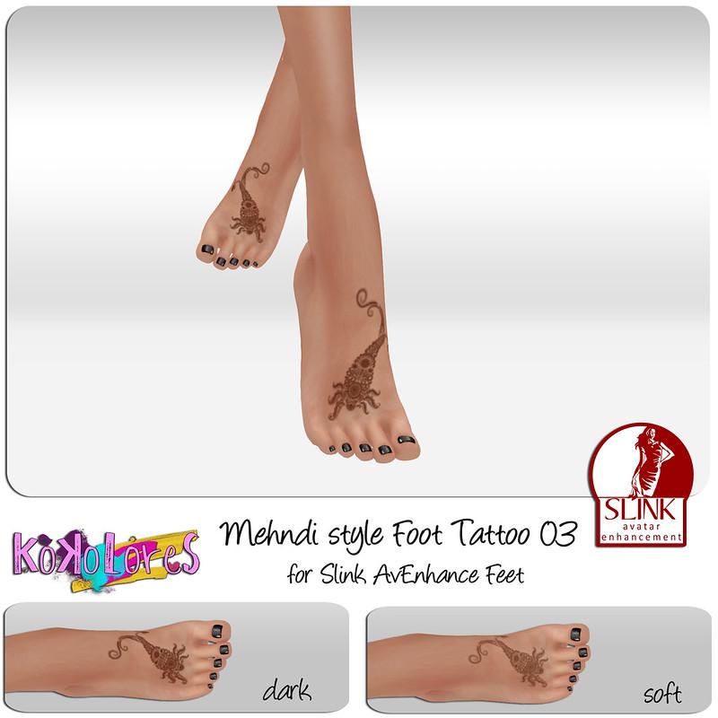 [KoKoLoReS] Mehndi Style Foot tattoo 03