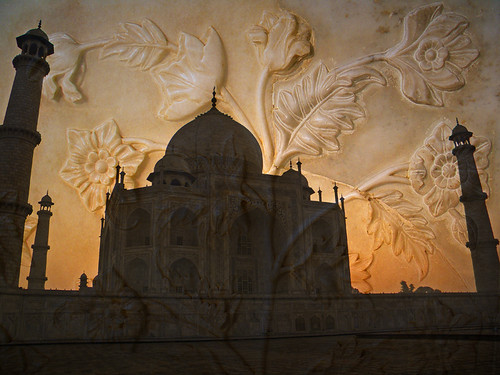 Taj Mahal with marble carving