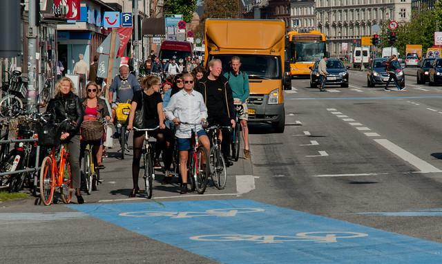 People on Bike at Copenhagen