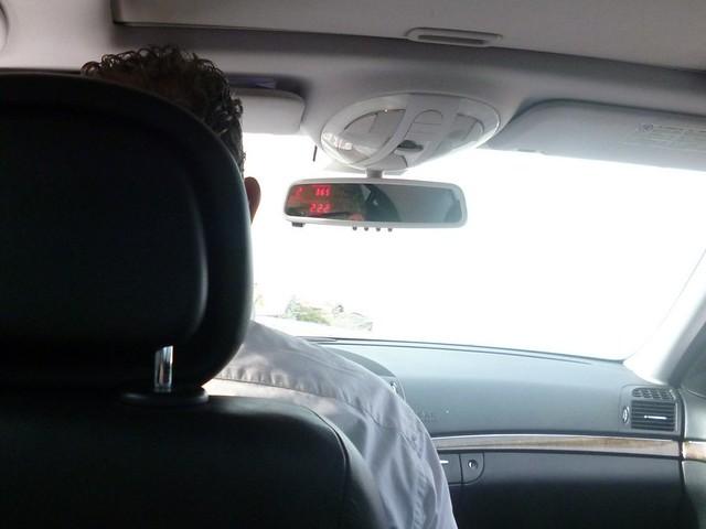 Cab meter on Mykonos Island