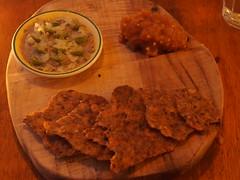 Whipped lambs brain, seed flatbread, apple and mustard seed chutney