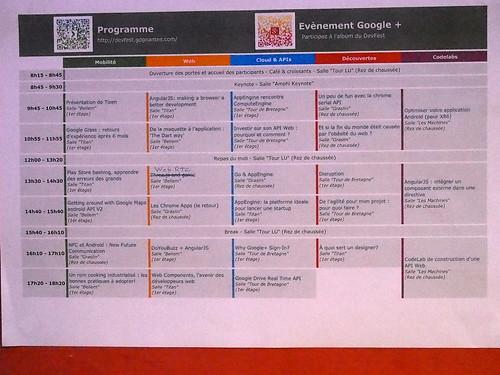 DevFest 2013 : le programme