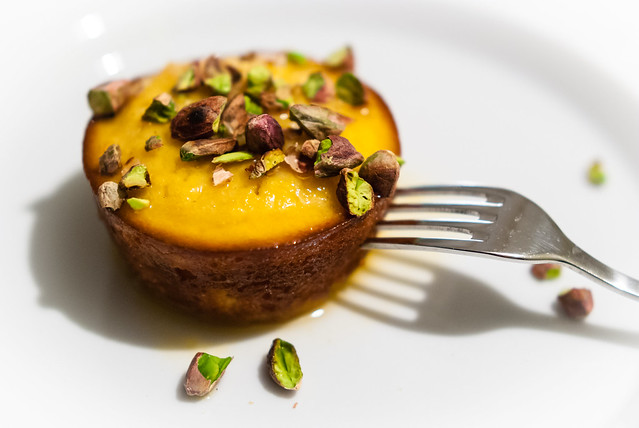Lekker Siciliaans: sinaasappel-ricotta cake met pistachenootjes
