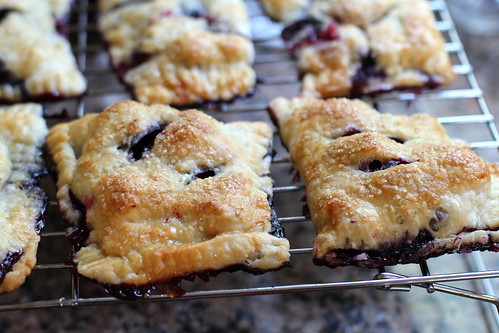 berry hand pies, cooling