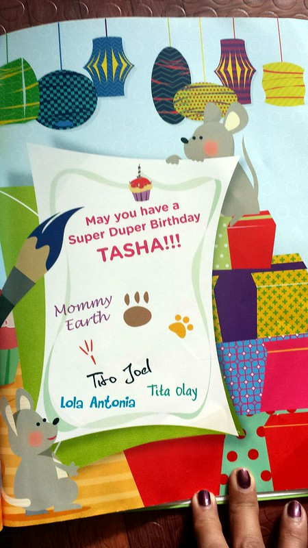 personalize the names of people in the birthday card