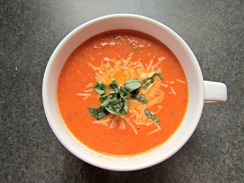 Tomato, Basil & Cheddar Soup