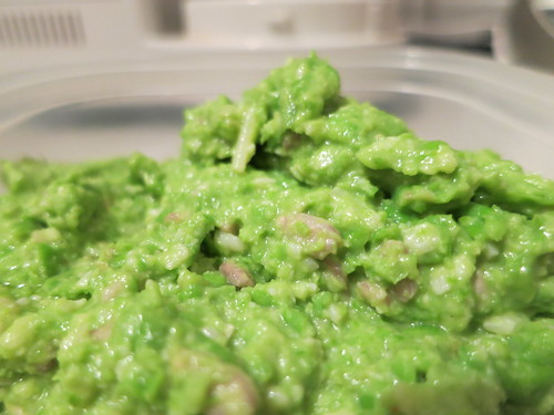 Green pea, sunflower seed and miso paste