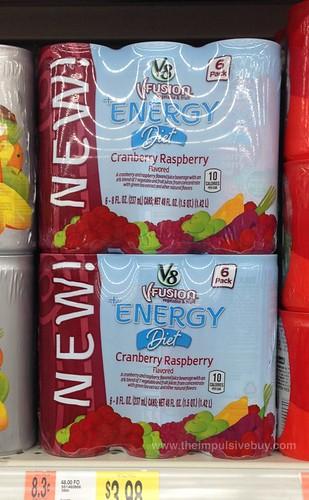 V8 Fusion Energy Diet Cranberry Raspberry