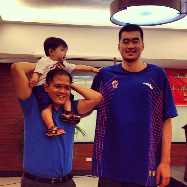 Warren: He's still taller than us daddy! #shanghaisharks #warren #allforthekid