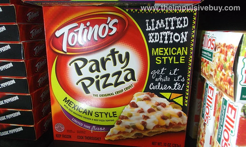 Totino's Limited Edition Mexican Style Party Pizza
