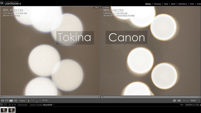 Canon 16-35mm II vs Tokina 16-28mm Bokeh