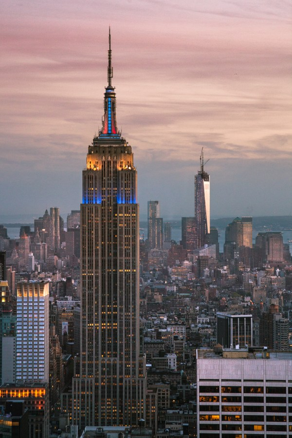 Empire State Building And World Trade Center