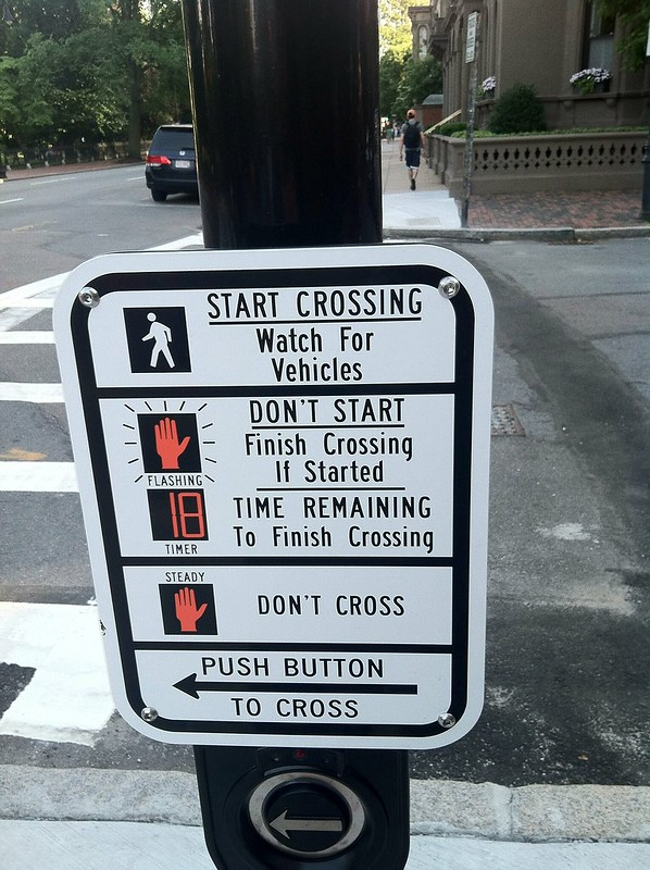 Pedestrian instructions