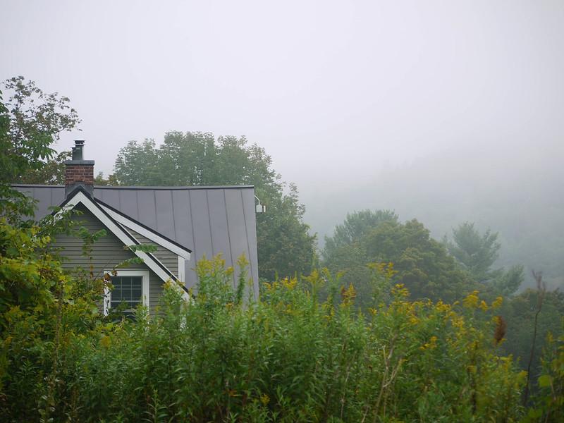 House and fog