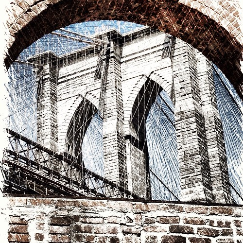 New York City Art Photo - Brooklyn Bridge by The Main Street Analyst