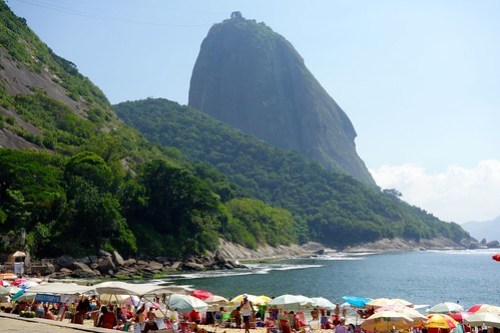 Praia Vermelha with Sugerloaf mountain