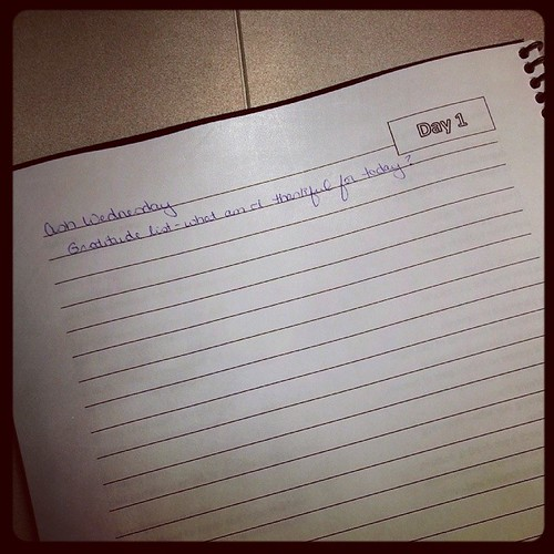 Today's first task is to make a journal for Lent. #40acts