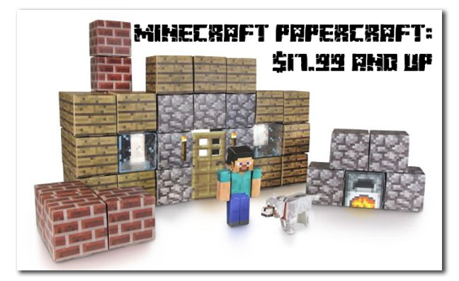 minecraft papercraft toy