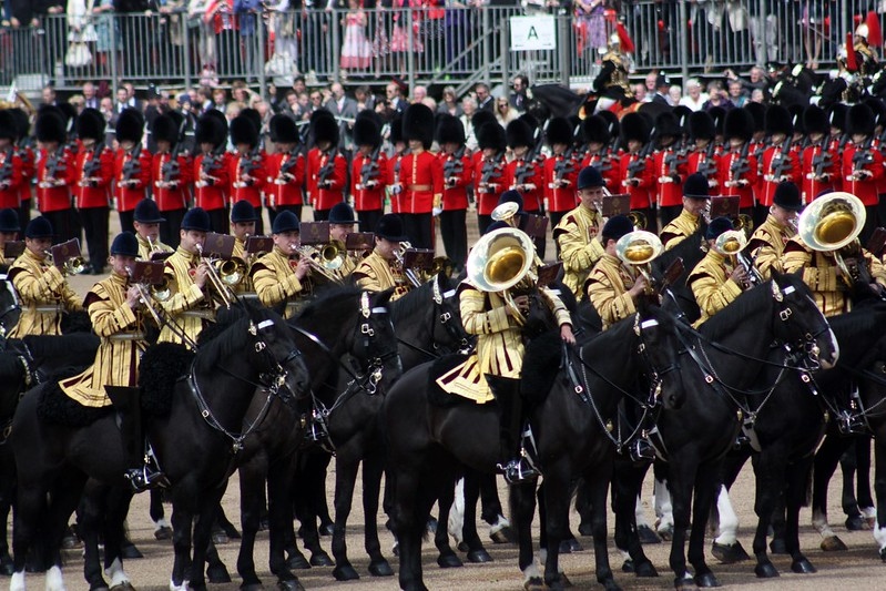 Trooping Band on Horseback
