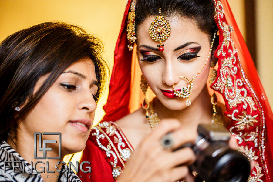 Bengali bride prepares for her wedding night