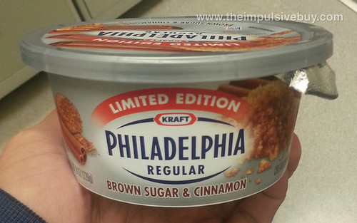 Kraft limited-edition brown sugar and cinnamon Philadelphia cream cheese spread