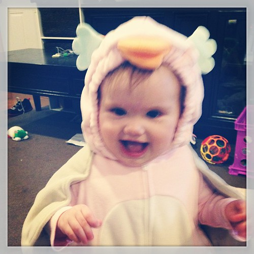 Happy Halloween from our little chicken!