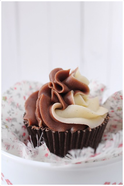 Cupcakes con chips de chocolate