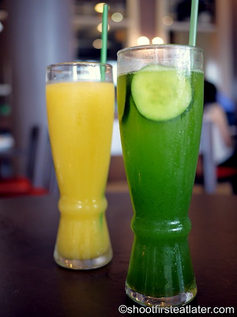 mango mint smoothie & cucumber lime fizz