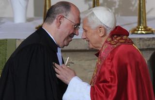 Benedikt XVI. mit Nikolaus Schneider