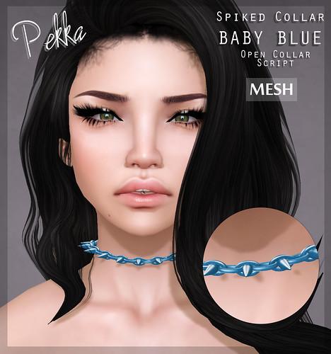 pekka spiked collar baby blue