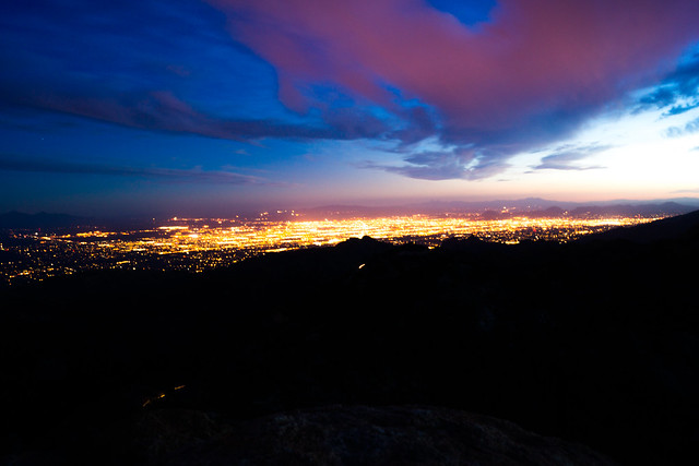 1306 Tucson City Lights from Lizard Rock