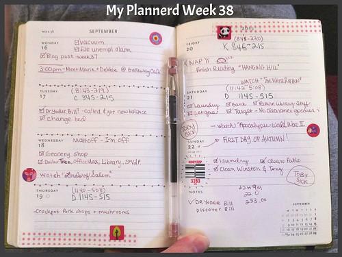 My Plannerd Week 38