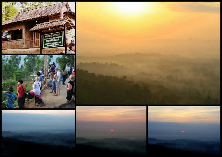Sunrise at Borubodur temple