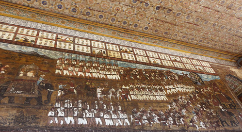 Wall painting at Tipu's Summer Palace