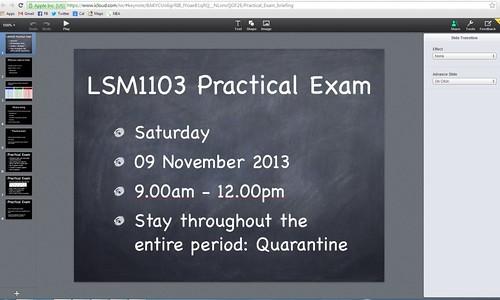 LSM1103 Prac Exam ATHN iCloud Screenshot