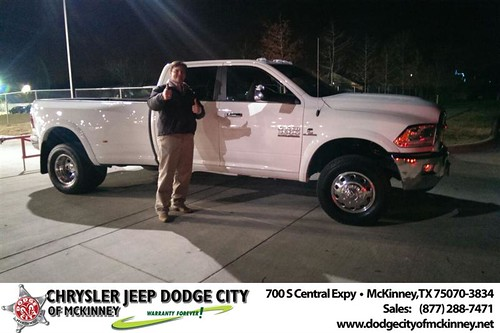 Thank you to Scott Nichols on your new 2014 #Ram #3500 from Joe Ferguson  and everyone at Dodge City of McKinney! #NewCarSmell by Dodge City McKinney Texas