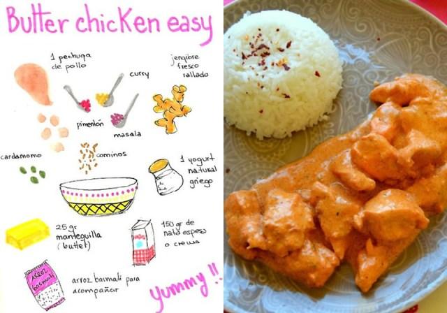 pollo mantequilla facil