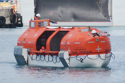 Grand Princess lifeboat 2