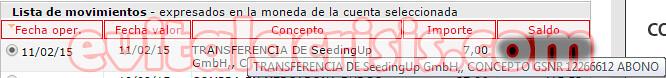 Recibido el 47º Pago de SeedingUp