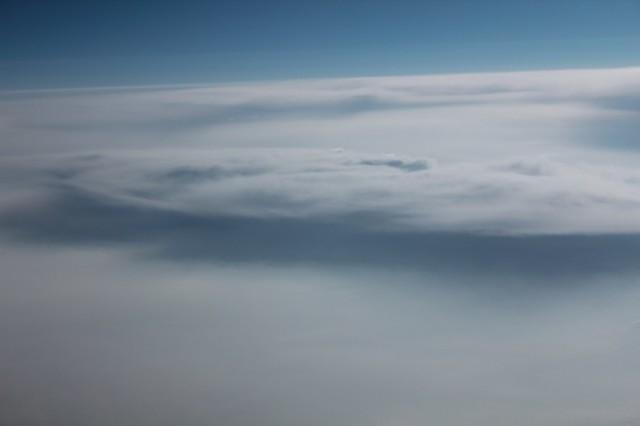 sulla via del ritorno: sopra le nuvole