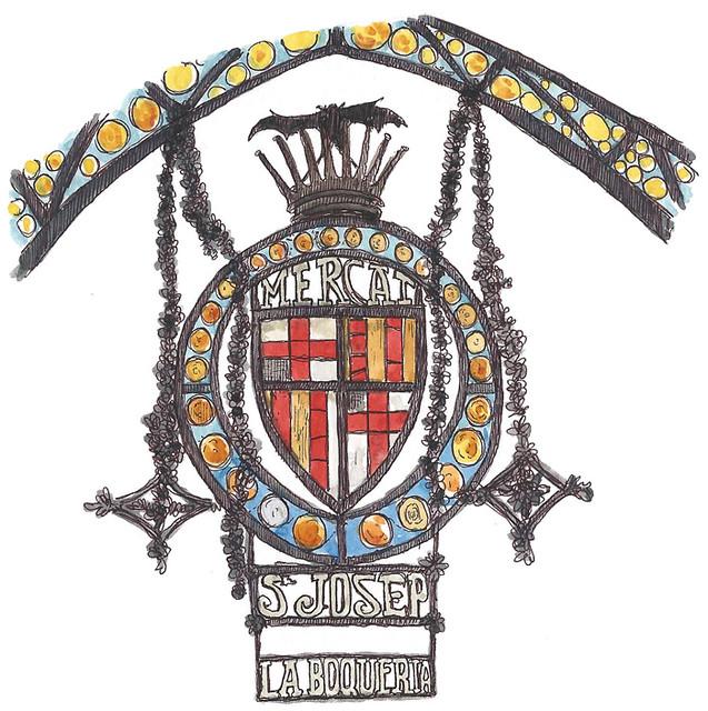 La Boqueria Sign