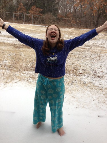 Susanna in the snow