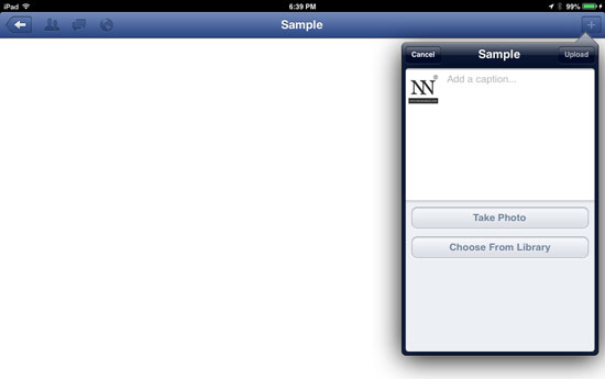 How to Upload Photos or Pictures on Facebook using iOS 5