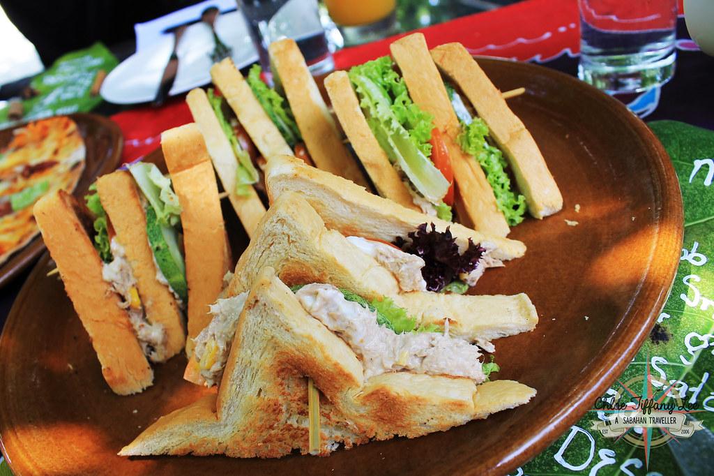 Tuna Sandwich, Pantai Grill, Bunga Raya Island Resort and Spa, Gaya Island, Pulau Gaya, Tunku Abdul Rahman Parks, Sabah Parks, Kota Kinabalu, Sabah, Chloe Tiffany Lee