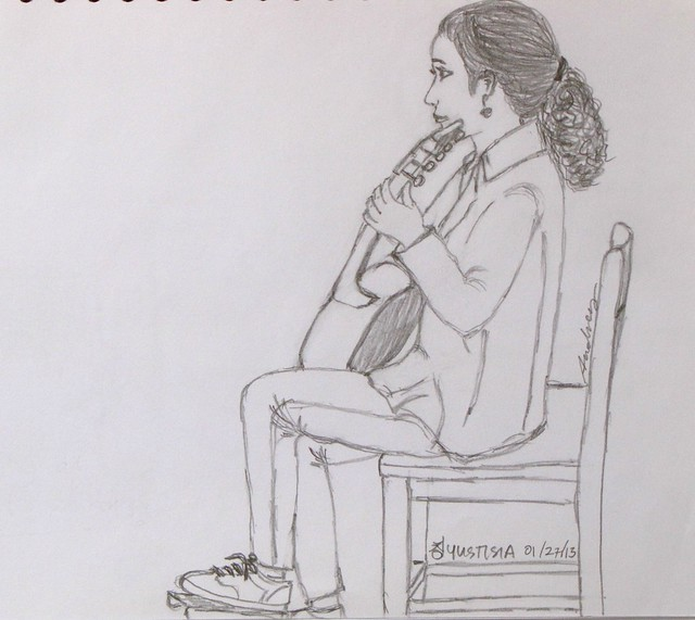 Sketch of A Guitar Player