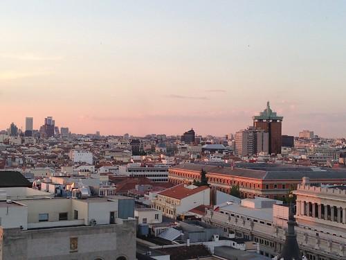 Atardecer desde la Azotea del Círculo de Bellas Artes, Madrid