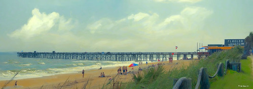 Image of Flagler Beach Fishing Pier in Panorama