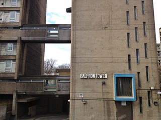 British Brutalist Architecture in the East End of London - Balfron Tower in Poplar