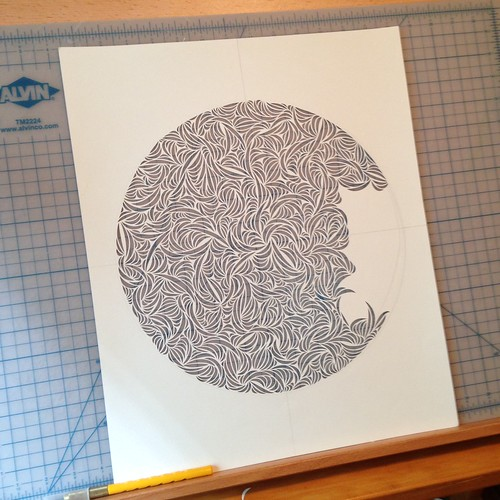 Work in progress paper cut